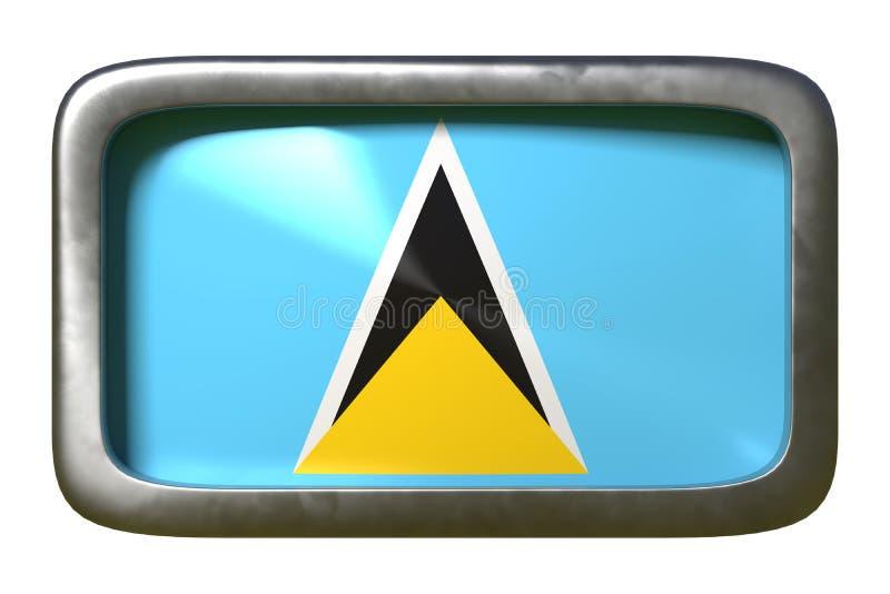 St. Lucia-Flaggenzeichen lizenzfreie abbildung