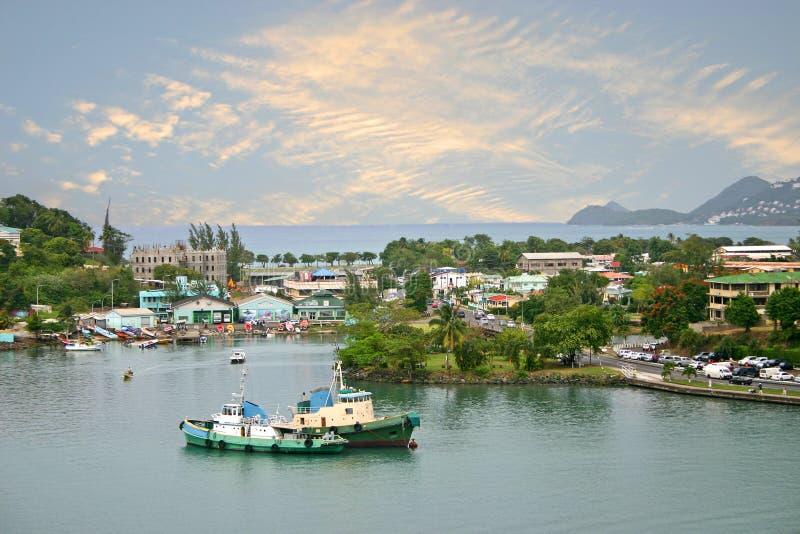 St. Lucia Harbor stock foto