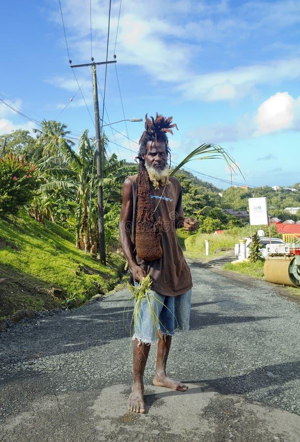 St. Lucia, karibisch, eingeboren stockbild