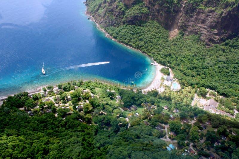 St. Lucia resort aerial stock photos