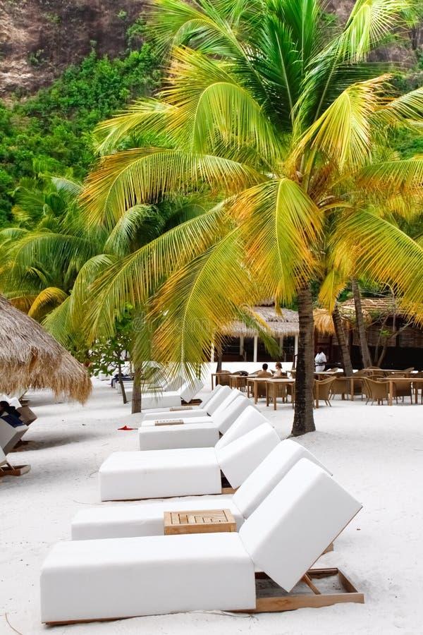 St. Lucia - Rząd Holów Krzesła fotografia royalty free
