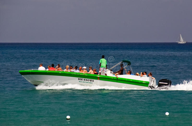 Download St. Lucia - Speed Boat Tour Fun Editorial Photography - Image: 20357037