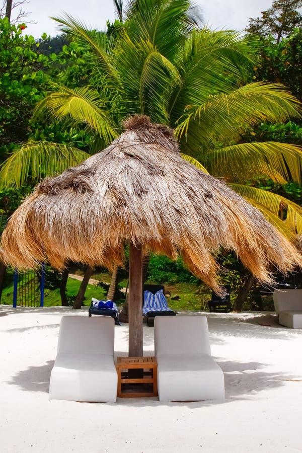 St Lucia - sua cadeira está esperando? imagens de stock royalty free