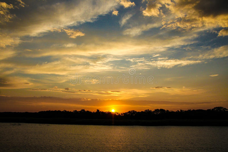 St Lucia Sunset stock foto's