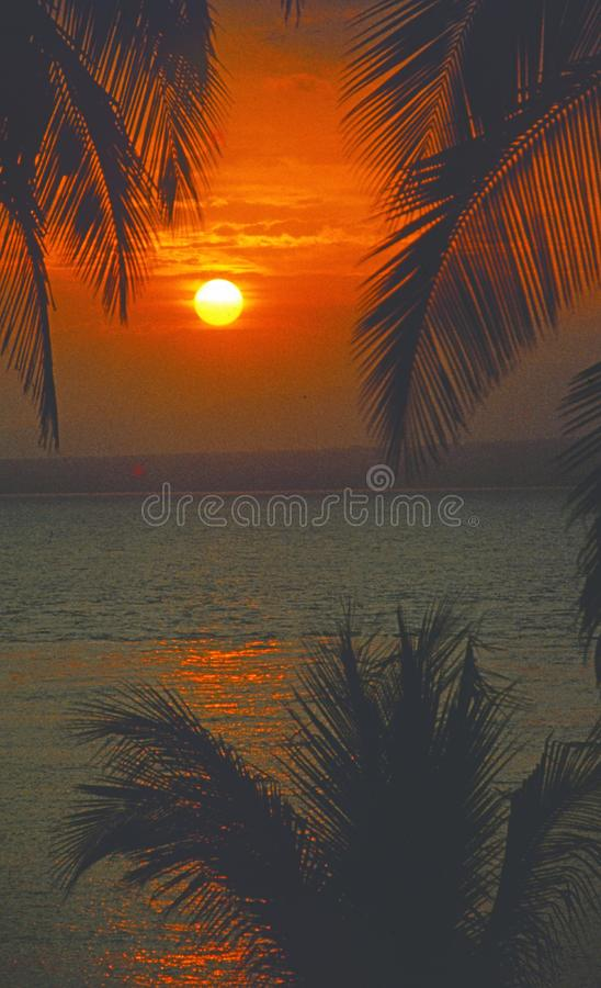 St. Lucia: sunset at the tropical caribbean island St. Lucia stock photos