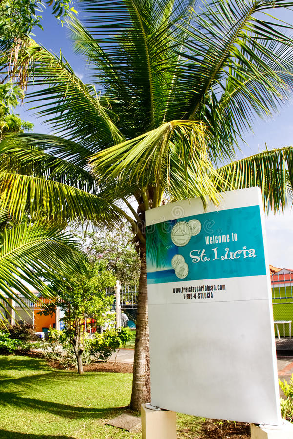 St. Lucia Welcomes You Editorial Stock Image