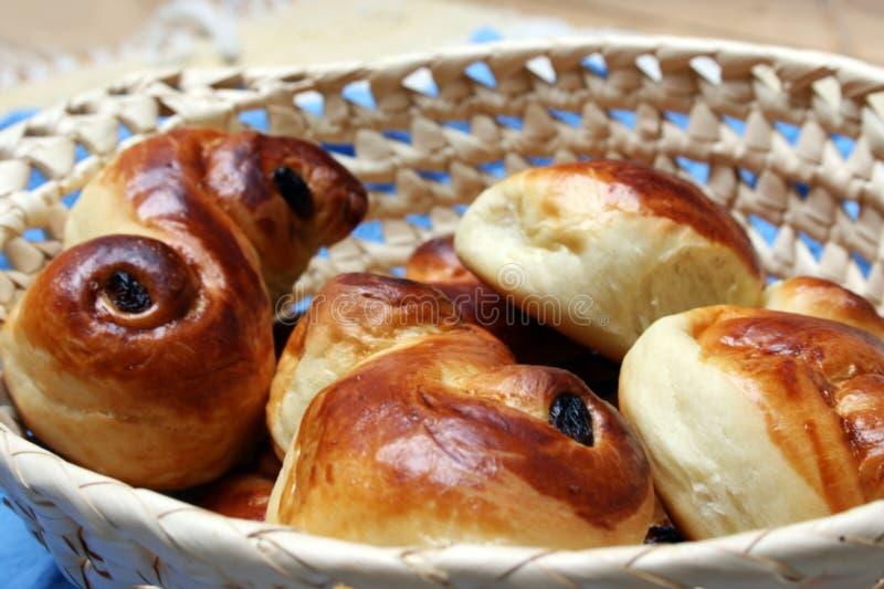 St. Lucia Zweedse zoete broodjes royalty-vrije stock fotografie
