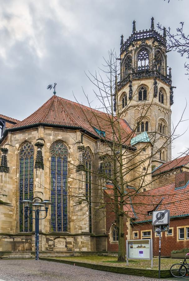 St. Ludgeri church, Munster, Germany. St. Ludgeri church is one of the oldest Catholic sacred buildings and was built in 1173, Munster, Germany stock images
