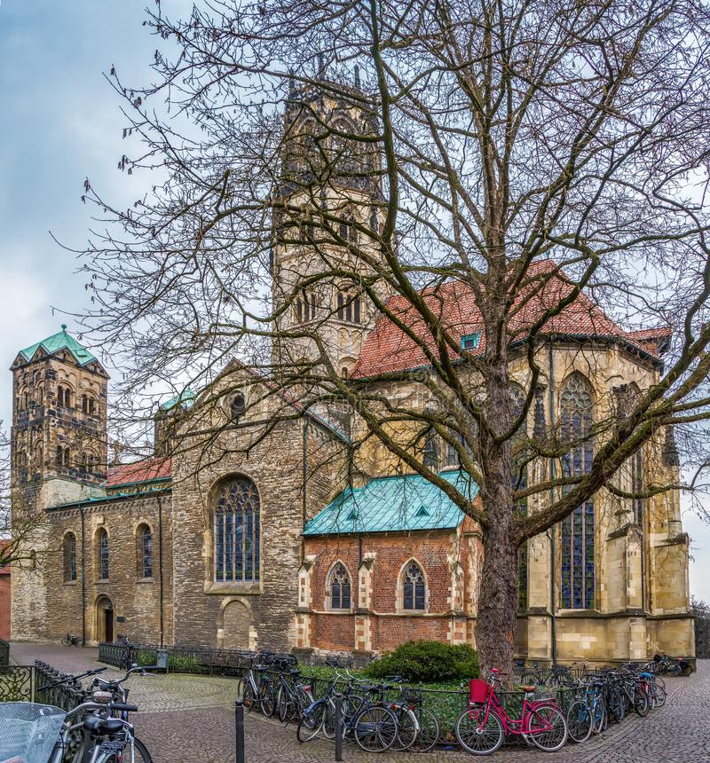 St. Ludgeri church, Munster, Germany. St. Ludgeri church is one of the oldest Catholic sacred buildings and was built in 1173, Munster, Germany stock photo