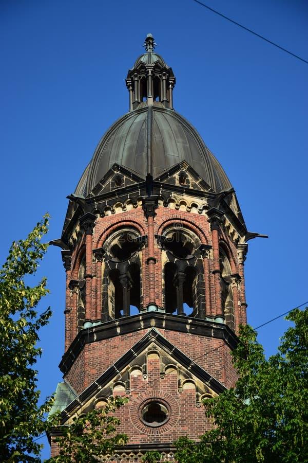 St Lukas Church i Munich, Tyskland arkivfoto