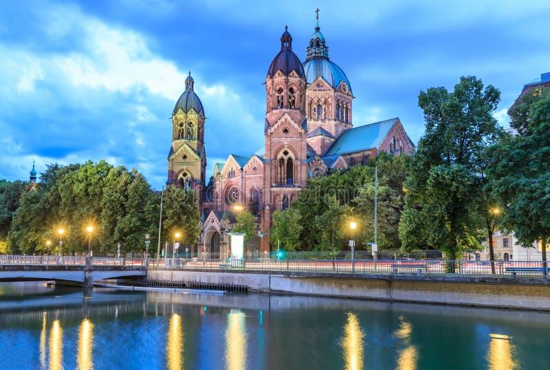 St Lukas Church Lukaskirche, Munich fotografía de archivo