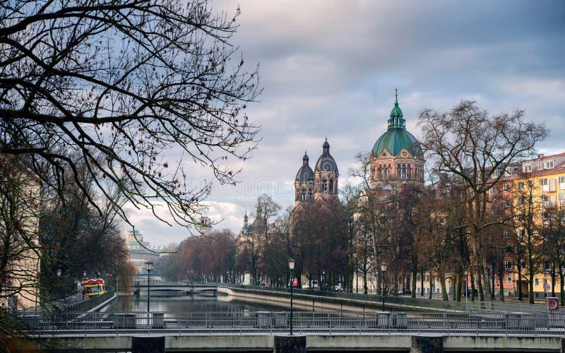 St Lukas Lukaskirche, munich, Tyskland arkivbild
