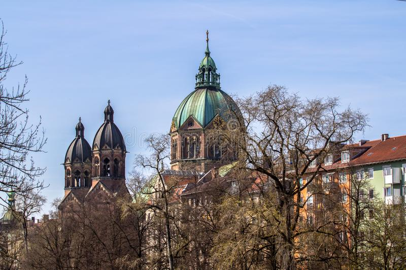 St Luke Church i Munich, Tyskland arkivfoto
