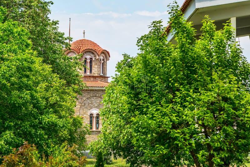 St Lydia ` s doopkapelkerk, Lydia, Philippi, Griekenland stock fotografie