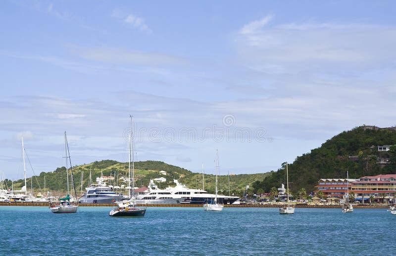 St Maarten热带海岛 免版税图库摄影