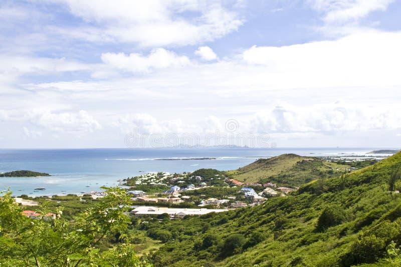 St Maarten热带海岛 免版税库存图片