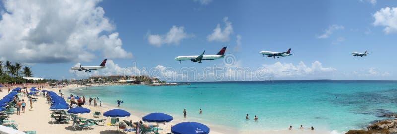 St Maarten Airport fotografia stock libera da diritti