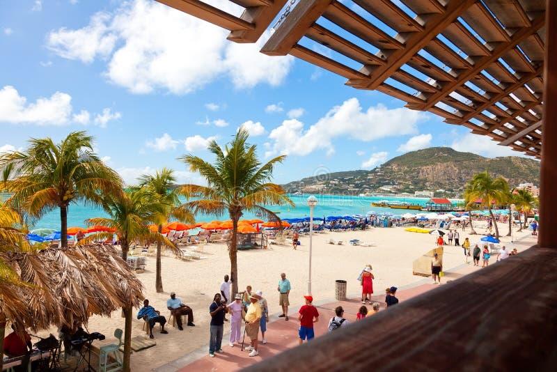St Maarten Beach fotografia stock libera da diritti