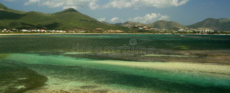 St Maarten Coconut Grove Vista royalty-vrije stock foto's
