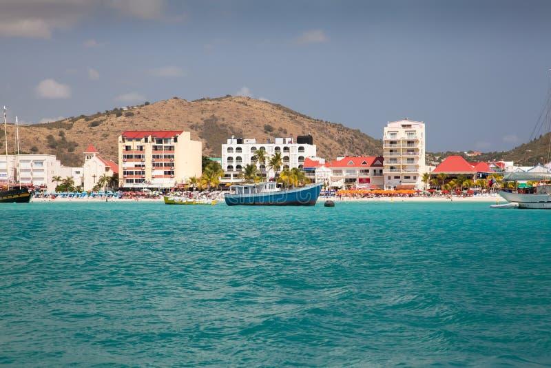 St Maarten, mare caraibico fotografia stock libera da diritti
