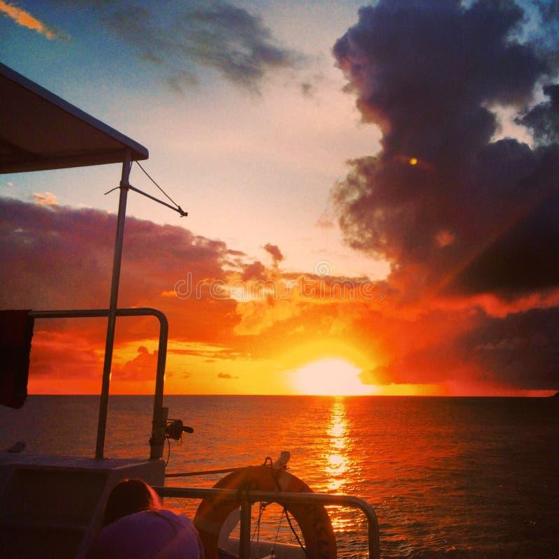 St Maarten Sunset fotografie stock