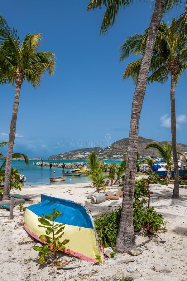 St Maarten Tropical Scene arkivfoton