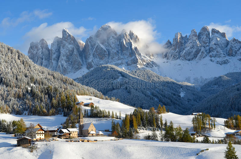 St. Magdalena in winter royalty free stock image