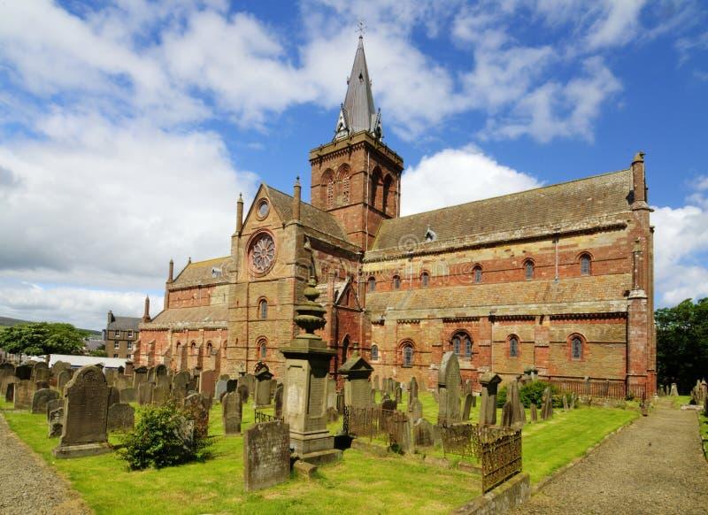 St Magnus Cathedral, Kirkwall, las Orcadas fotografía de archivo libre de regalías