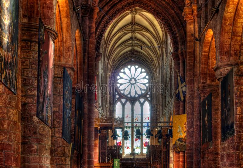 St. Magnus Cathedral, Kirkwall, Orkney lizenzfreie stockfotos