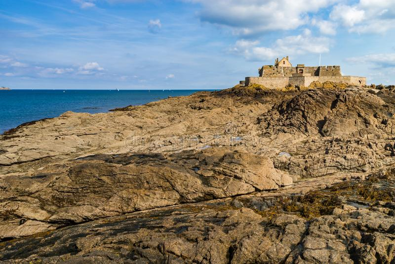 ST-Malo, παλαιά πόλη πειρατών, Γαλλία στοκ εικόνες με δικαίωμα ελεύθερης χρήσης