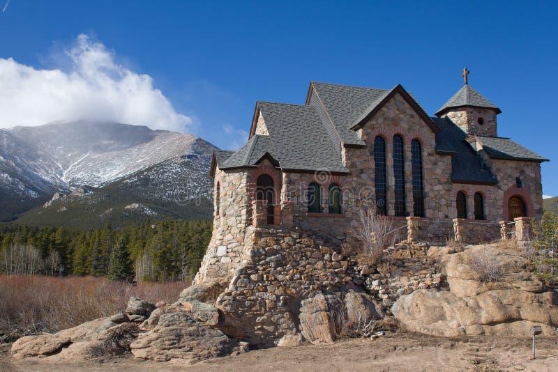 St Malo, церковь на утесах, Allenspark, Колорадо стоковые фотографии rf