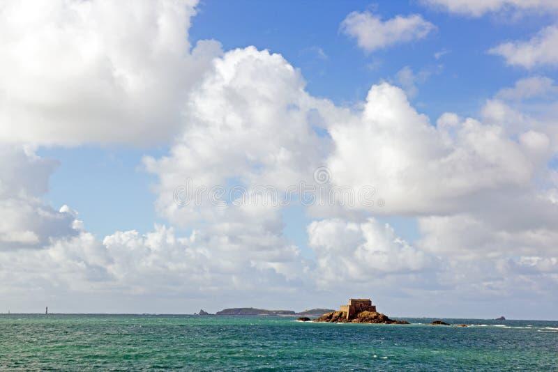 St. Malo, Fort des großen Bé Bretagne, Frankreich lizenzfreies stockbild