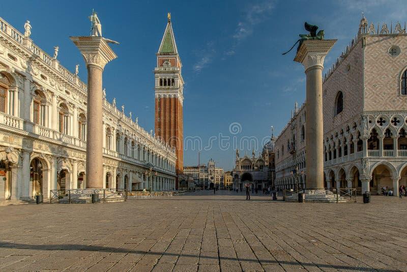 St Marca o quadrado em Veneza fotos de stock