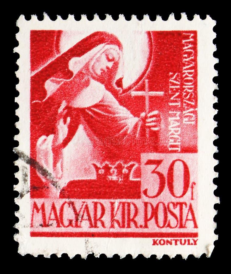 St Margaret 1242-1270, charaktery i relikwie Węgierski historii seria około 1944, zdjęcie royalty free