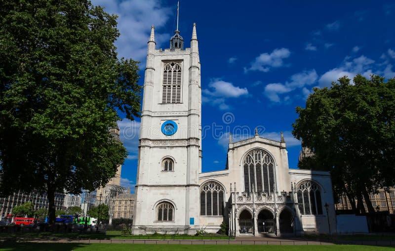 St Margaret Church na abadia de Westminster em Londres, Reino Unido imagem de stock