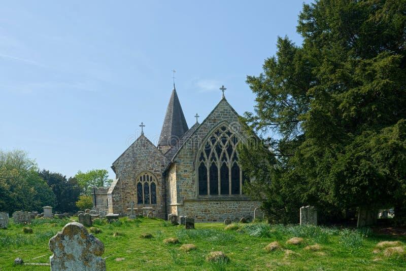 St Margaret die Königin-Kirche Buxted sussex lizenzfreies stockfoto
