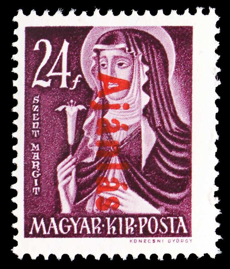 St Margaret 1242-1270, große Frauen des ungarischen Geschichte-serie, circa 1944 lizenzfreie stockfotografie