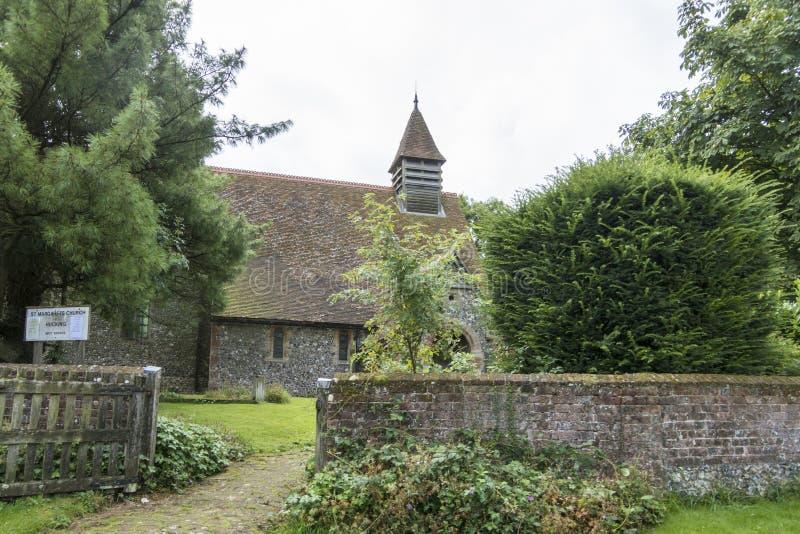 St Margaret ` s kościół, Hucking, Kent, UK obrazy royalty free