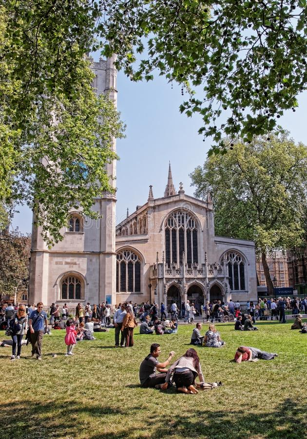St Margaret von Westminster Abbey in London lizenzfreie stockbilder