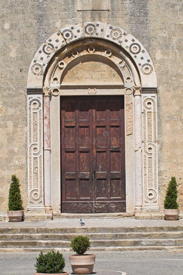 St. Maria in Castello-Kerk. Tarquinia. Lazio. Italië. royalty-vrije stock foto's