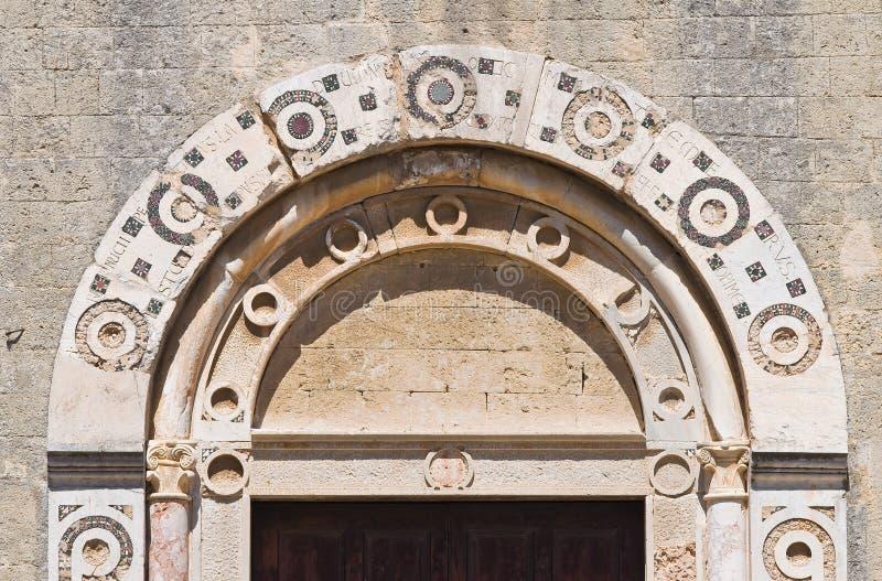 St. Maria in Castello-Kerk. Tarquinia. Lazio. Italië. royalty-vrije stock afbeelding