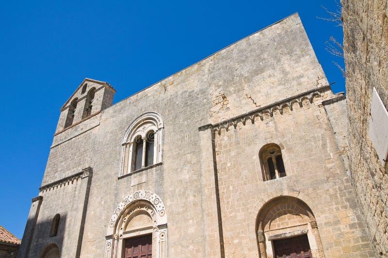 St. Maria in Castello-Kerk. Tarquinia. Lazio. Italië. royalty-vrije stock foto