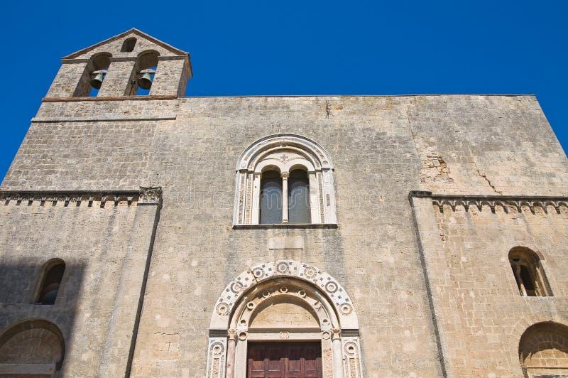 St. Maria in Castello-Kerk. Tarquinia. Lazio. Italië. stock afbeelding