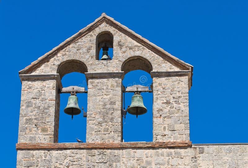 St. Maria in Castello-Kerk. Tarquinia. Lazio. Italië. stock foto