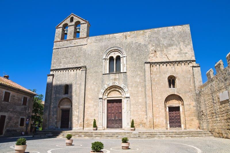 St. Maria in Castello-Kerk. Tarquinia. Lazio. Italië. royalty-vrije stock fotografie