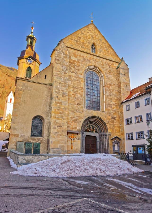 Free St Maria Himmelfahrt In Chur In Winter Stock Photo - 171161770