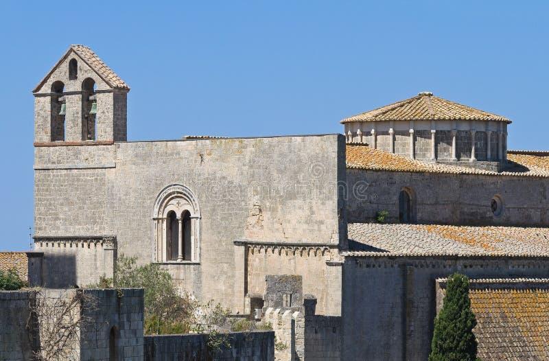 St. Maria in Kerk Castello. Tarquinia. Lazio. Het stock afbeelding