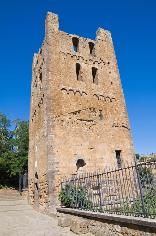 Free St. Maria Maggiore Belltower Basilica. Tuscania. Stock Images - 26150984