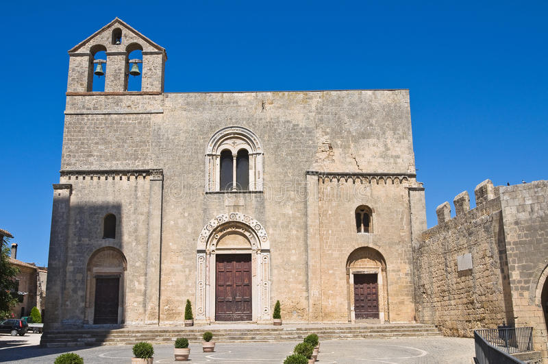 St. Maria na igreja de Castello. Tarquinia. Lazio. Itália. fotografia de stock royalty free