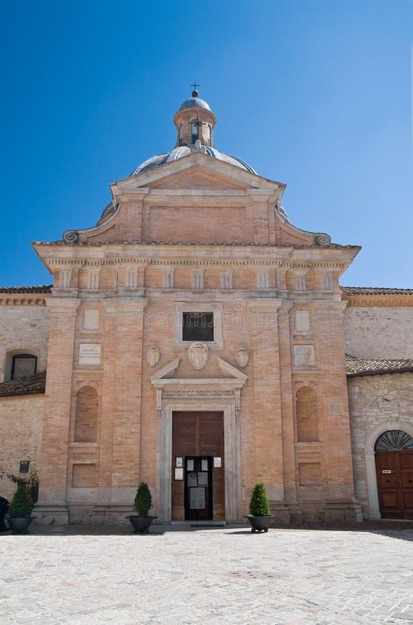 St. Maria Nuova Church. Assisi. Umbria. Perspective of the St. Maria Nuova Church. Assisi. Umbria stock photos